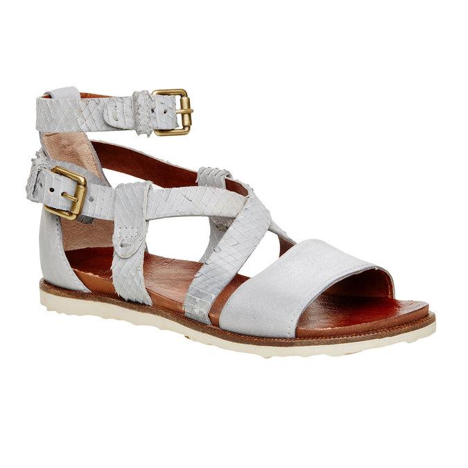 Damskie skórzane sandały bata, 566-1103 - 13