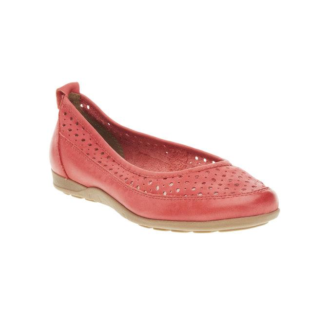 Czerwone skórzane baleriny bata, czerwony, 526-5496 - 13