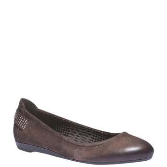 Skórzane baleriny bata, brązowy, 526-4101 - 13