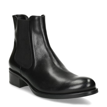 Skórzane buty Chelsea bata, czarny, 594-6448 - 13