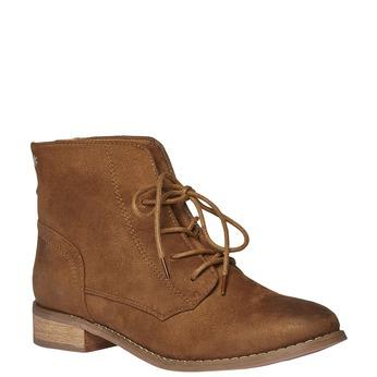 Skórzane sznurowane buty bata, brązowy, 599-3493 - 13