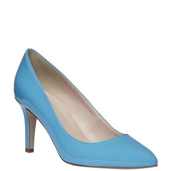 Niebieskie skórzane czółenka bata, niebieski, 728-9955 - 13