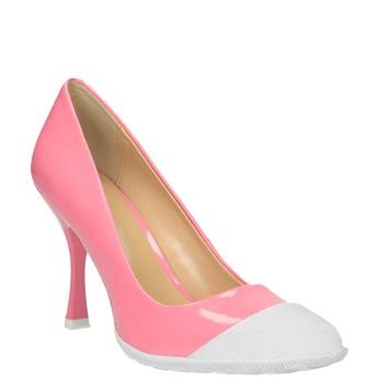 Różowe czółenka w sportowym fasonie bata, różowy, 726-5630 - 13