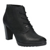 Skórzane buty do kostki na obcasie bata, czarny, 796-6602 - 13