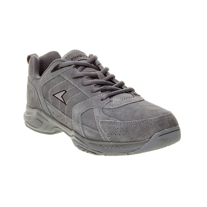 Skórzane buty sportowe power, szary, 803-2114 - 13