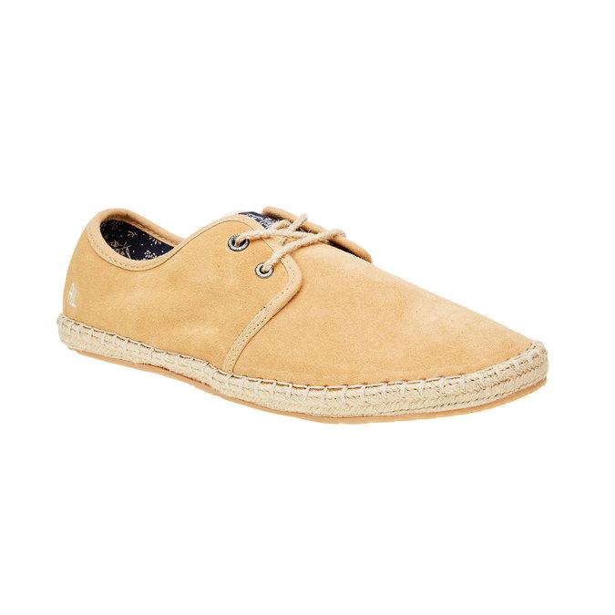 Męskie skórzane buty sportowe pepe-jeans, brązowy, 823-3011 - 13