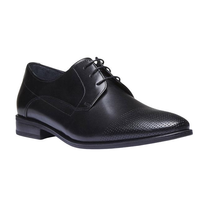Męskie skórzane półbuty bata, czarny, 824-6275 - 13