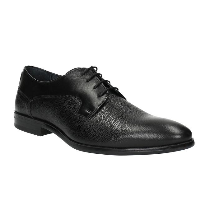 Półbuty męskie ze skóry bata, czarny, 824-6709 - 13
