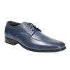Męskie skórzane półbuty bata, niebieski, 824-9669 - 13