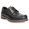 Skórzane półbuty z przeszyciami na nosku bata, czarny, 826-6640 - 13