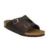Skórzane klapki z korkową podeszwą birkenstock, brązowy, 866-4007 - 13