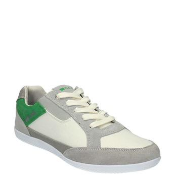 Męskie buty sportowe w codziennym stylu gas, biały, 849-1628 - 13