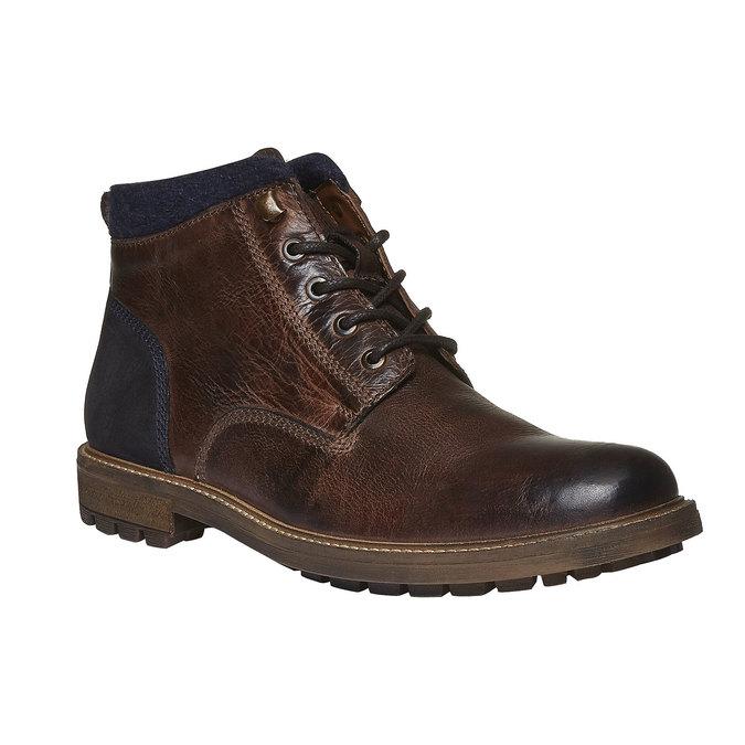 Skórzane botki bata, brązowy, 894-4133 - 13