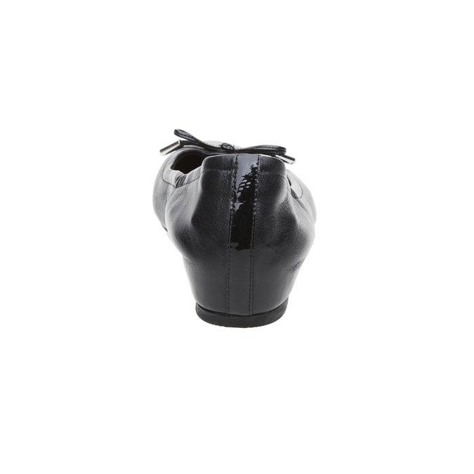 Czarne skórzane baleriny rockport, czarny, 524-6121 - 17