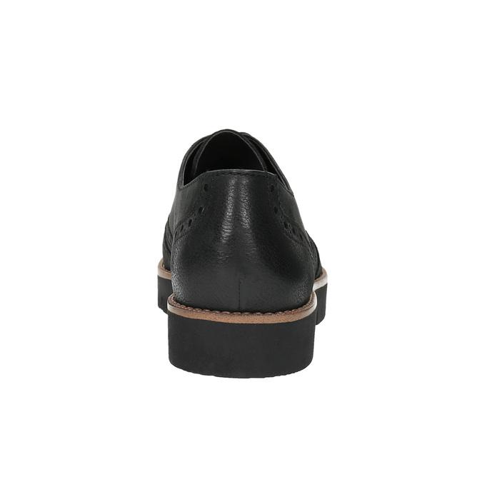 Półbuty damskie ze skóry bata, czarny, 526-6600 - 17