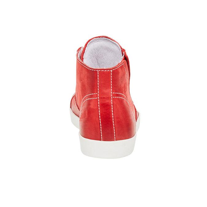 Skórzane buty sportowe do kostki bata, czerwony, 524-5310 - 17