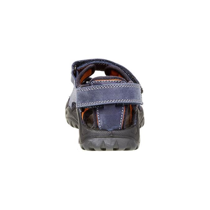 Dziecięce skórzane sandały mini-b, niebieski, 466-9121 - 17