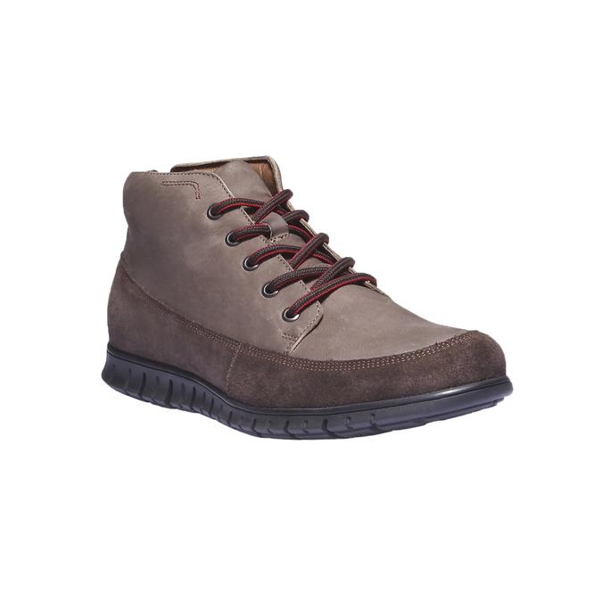 Skórzane buty sportowe na co dzień bata, brązowy, 896-4195 - 13