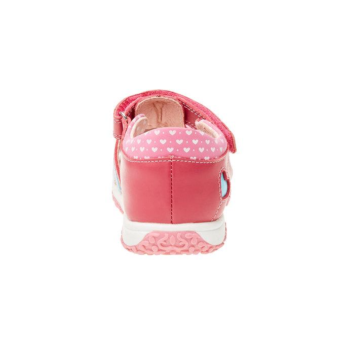 Dziecięce buty z zakrytą piętą bubblegummer, różowy, 124-5142 - 17