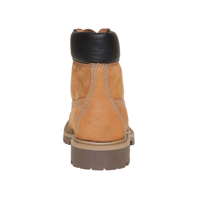 Skórzane buty dziecięce na grubej podeszwie weinbrenner-junior, brązowy, 396-8182 - 17