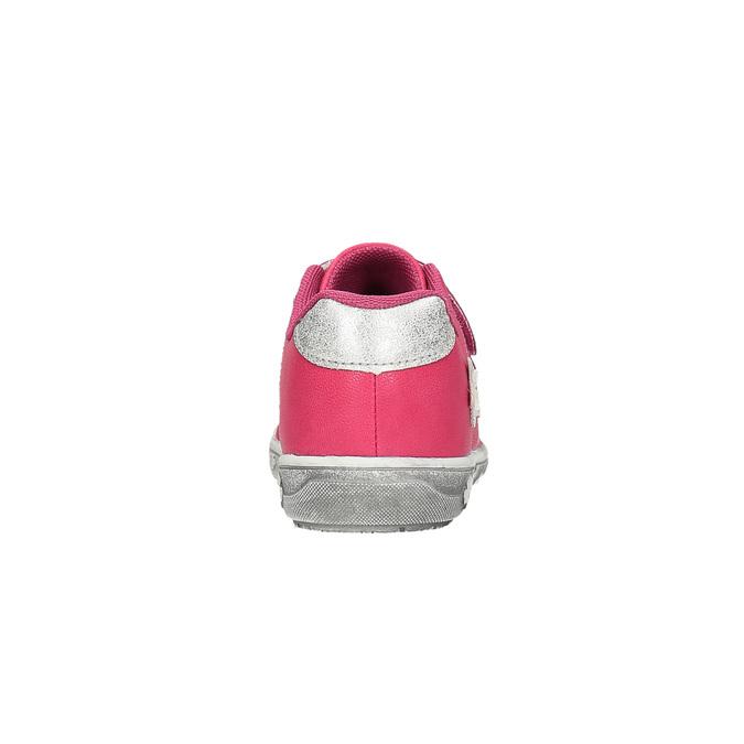 Różowe trampki dziecięce w kwiaty mini-b, różowy, 221-5602 - 17
