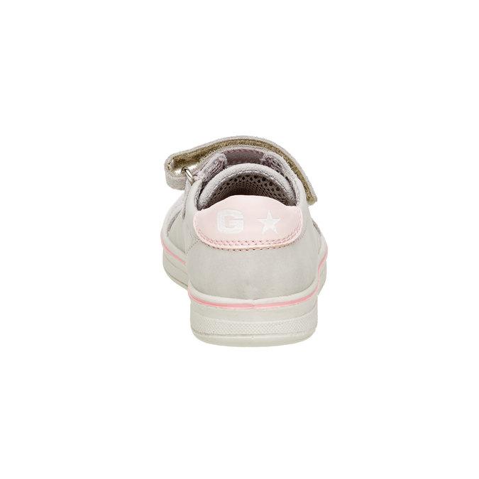 Dziecięce skórzane buty sportowe mini-b, szary, 323-2120 - 17
