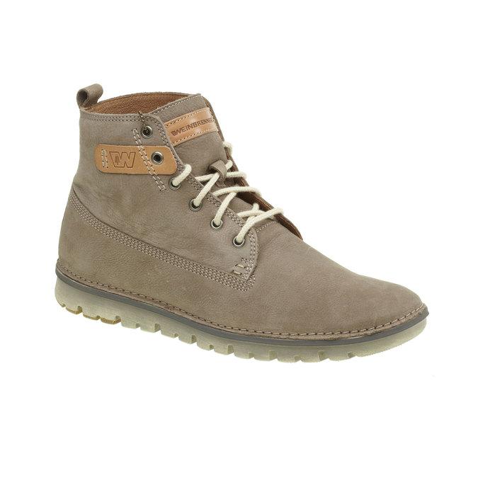 Skórzane buty do kostki weinbrenner, brązowy, 896-2340 - 13