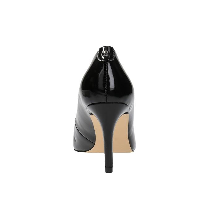 Czółenka damskie lakierowane bata, czarny, 721-6603 - 17