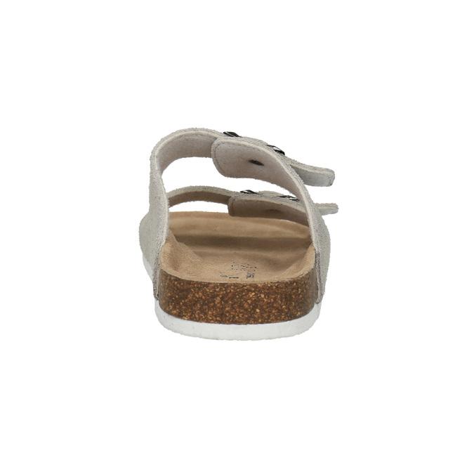 Damskie skórzane pantofle de-fonseca, beżowy, 573-8620 - 17