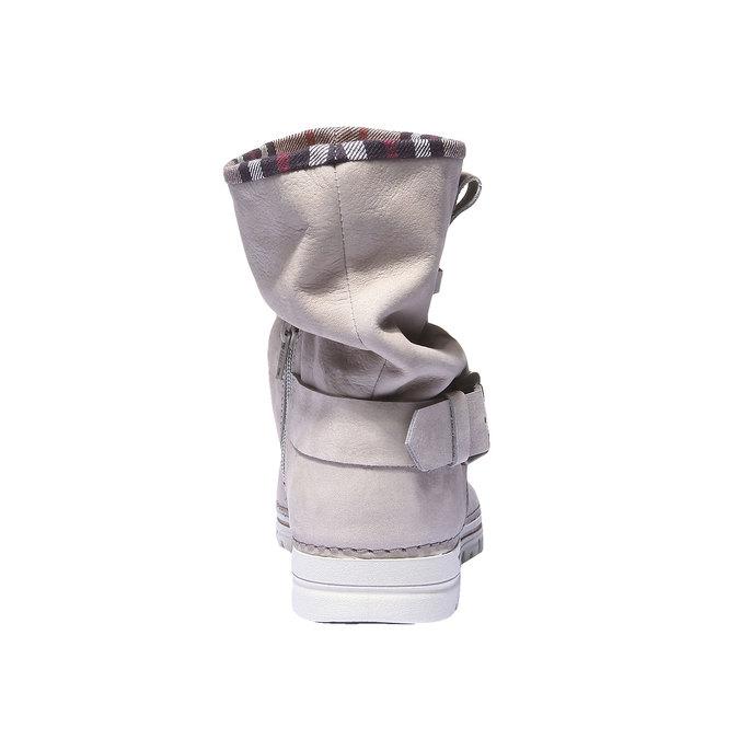 Skórzane buty z kolorową lamówką weinbrenner, 596-8311 - 17