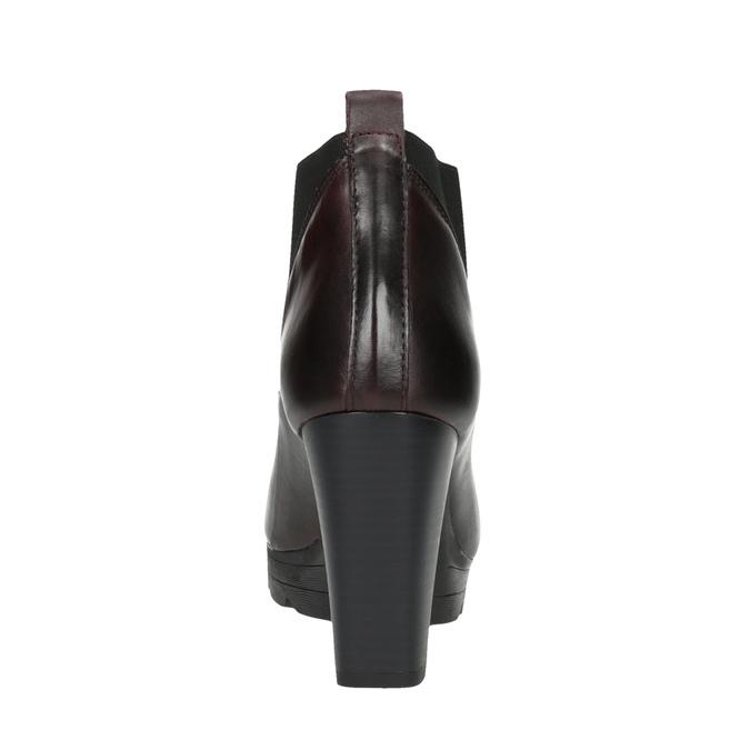 Botki do kostki ze skóry na wysokim obcasie bata, 796-5605 - 17