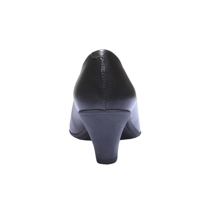Skórzane czółenka flexible, czarny, 624-6221 - 17