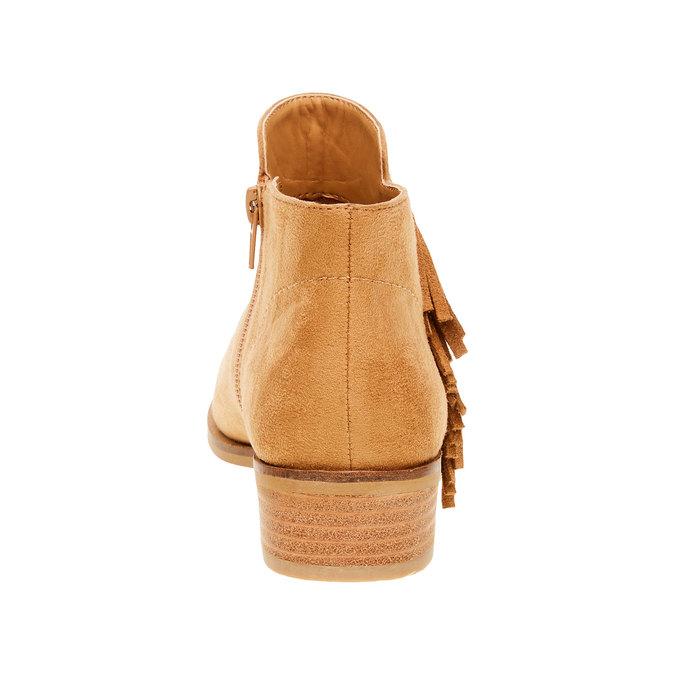Kozaki do kostki z frędzlami bata, brązowy, 599-3102 - 17