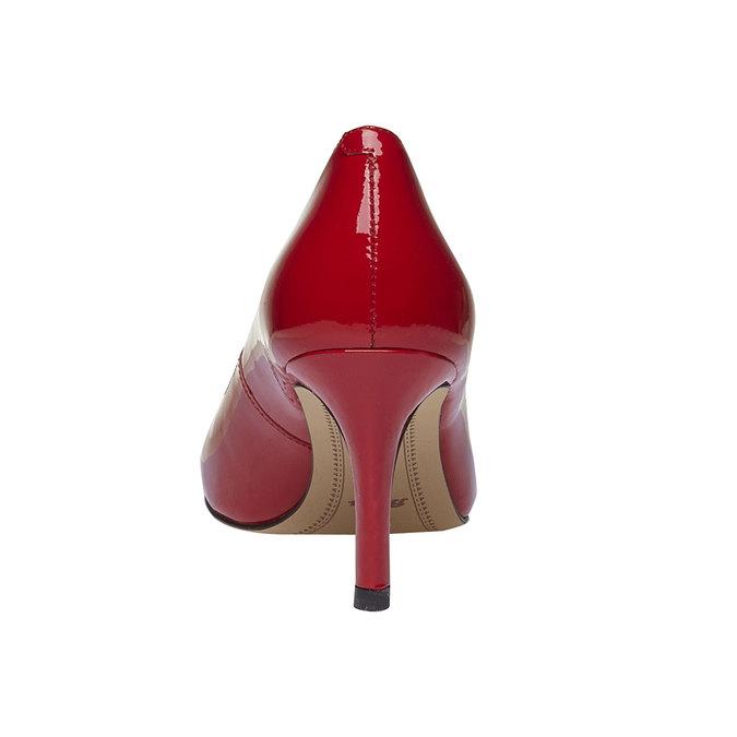 Czerwone skórzane czółenka bata, czerwony, 728-5953 - 17