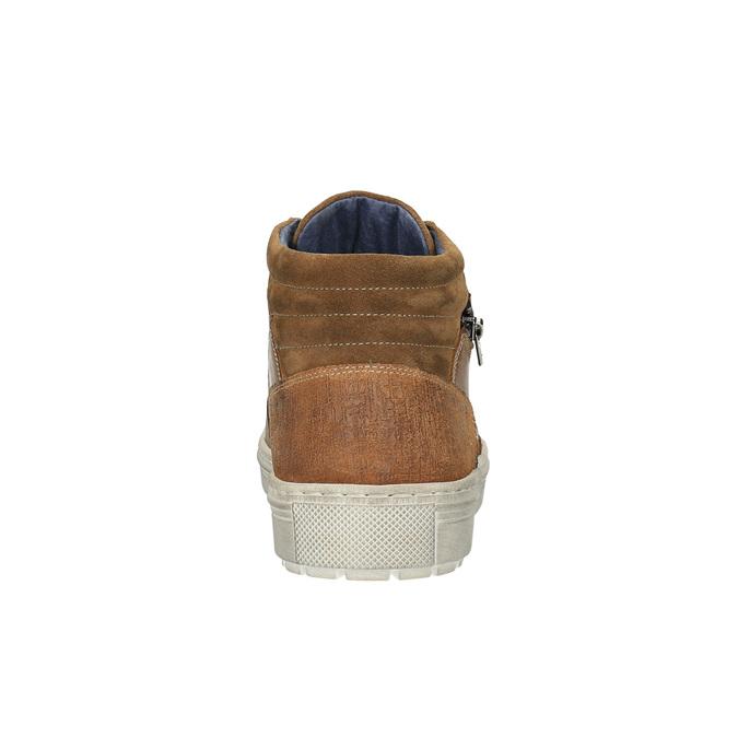 Trampki męskie za kostkę bata, brązowy, 826-3650 - 17