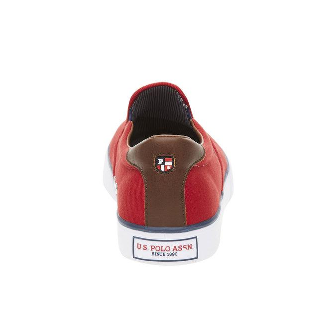 Czerwone slip on męskie u-s-polo-assn-, czerwony, 849-5002 - 17