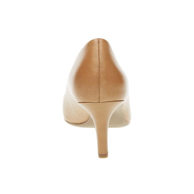 Skórzane czółenka z komfortową wkładką bata, brązowy, 624-3388 - 17