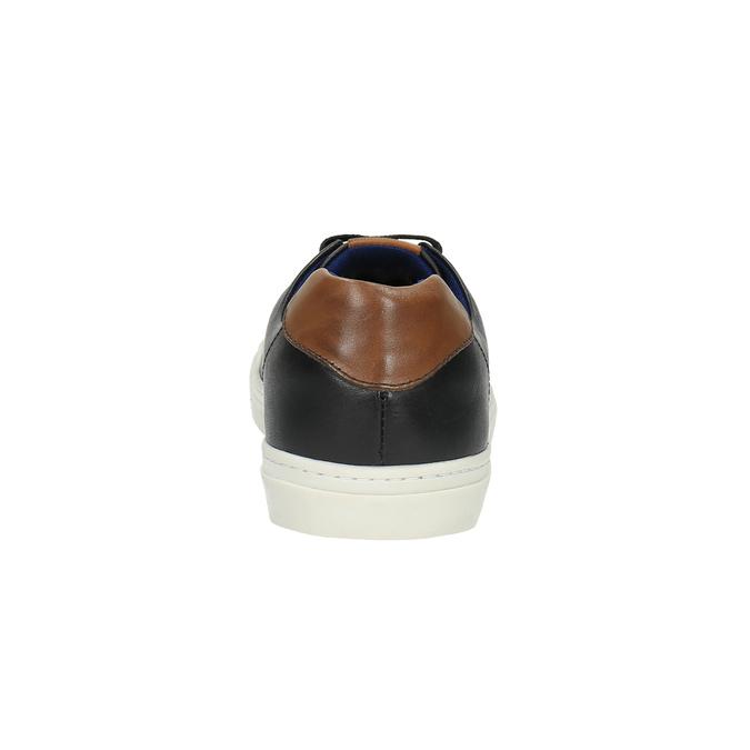 Męskie skórzane buty sportowe bata, czarny, 844-6626 - 17