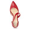 Skórzane czółenka z paskiem bata, czerwony, 724-5904 - 17