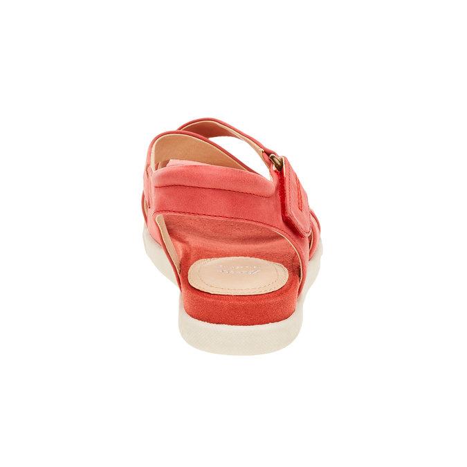 Damskie czerwone skórzane sandały bata, czerwony, 564-5351 - 17