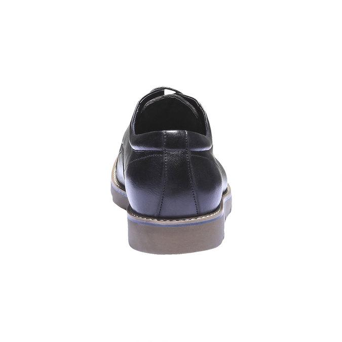 Skórzane półbuty bata, czarny, 824-6197 - 17