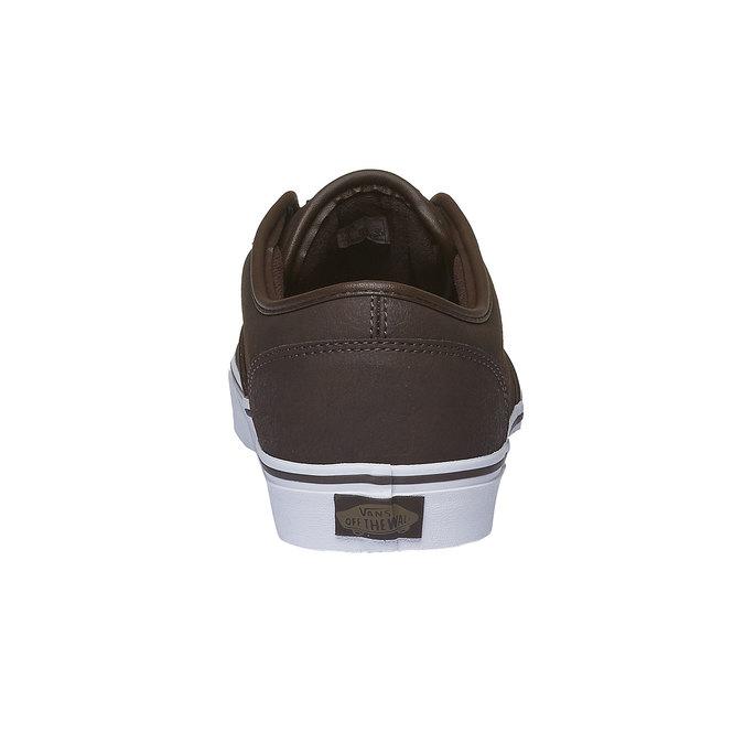Męskie buty sportowe z białą podeszwą vans, brązowy, 801-4300 - 17