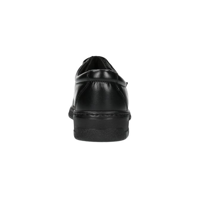 Skórzane męskie półbuty pinosos, czarny, 824-6770 - 17