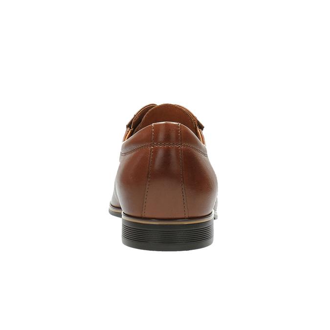 Skórzane męskie półbuty conhpol, brązowy, 824-4693 - 17