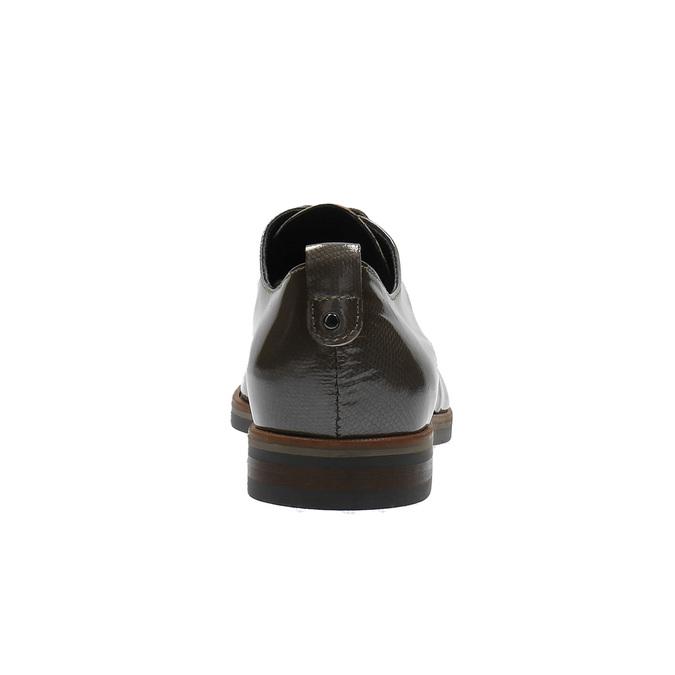 Półbuty damskie ze skóry bata, brązowy, 528-2600 - 17