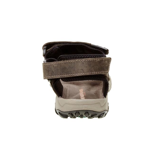 Męskie skórzane sandały weinbrenner, brązowy, 866-2106 - 17