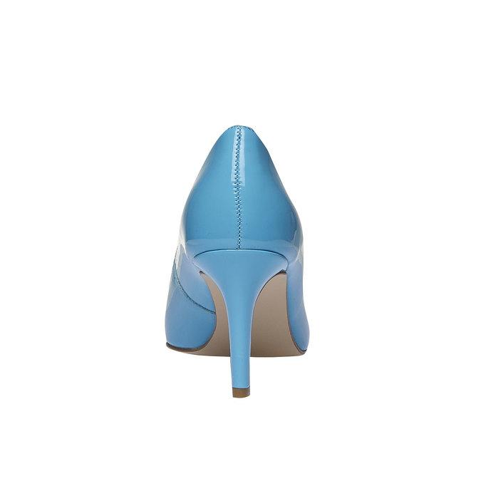 Niebieskie skórzane czółenka bata, niebieski, 728-9955 - 17