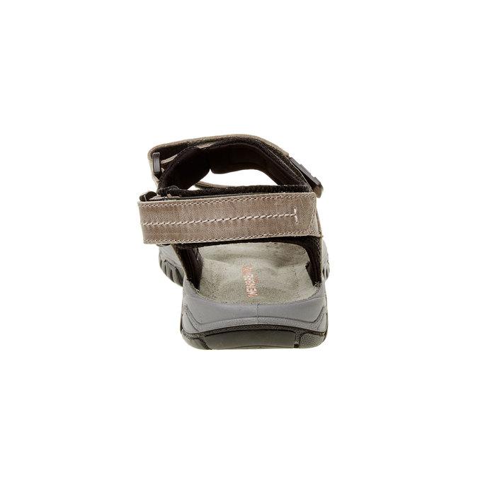 Męskie skórzane sandały weinbrenner, brązowy, 866-6107 - 17