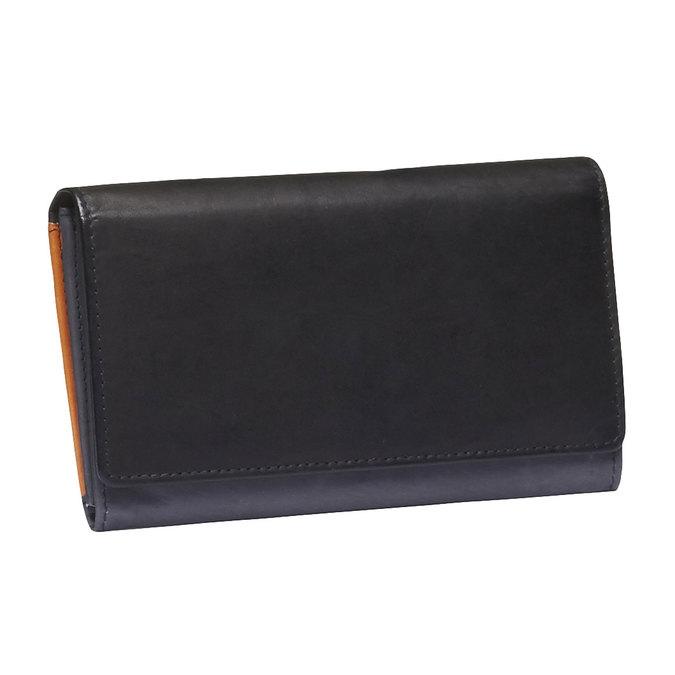Damski skórzany portfel bata, czarny, 944-6156 - 13