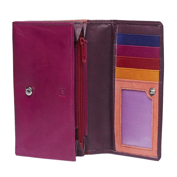 Damski skórzany portfel bata, czerwony, 944-5156 - 15